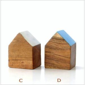 木製 オブジェ 置物 おしゃれ かわいい 小物 おうち 家 インテリア ウッドハウスブロック 4カラー|gigiliving|04