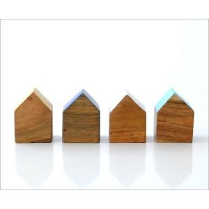 木製 オブジェ 置物 おしゃれ かわいい 小物 おうち 家 インテリア ウッドハウスブロック 4カラー|gigiliving|05