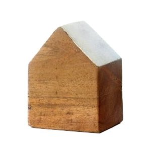 木製 オブジェ 置物 おしゃれ かわいい 小物 おうち 家 インテリア ウッドハウスブロック 4カラー|gigiliving|08