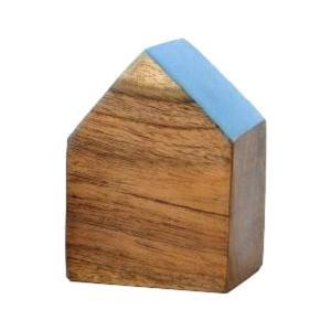 木製 オブジェ 置物 おしゃれ かわいい 小物 おうち 家 インテリア ウッドハウスブロック 4カラー|gigiliving|09
