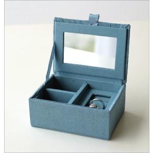 小物入れ アクセサリーケース ミラー ふた付き 刺繍 ビーズ かわいい おしゃれ 指輪 リングホルダー ミニケース ジュエリーケース ビーズ刺繍BOX 2カラー gigiliving 03