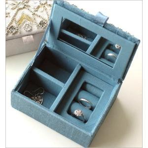 小物入れ アクセサリーケース ミラー ふた付き 刺繍 ビーズ かわいい おしゃれ 指輪 リングホルダー ミニケース ジュエリーケース ビーズ刺繍BOX 2カラー gigiliving 04