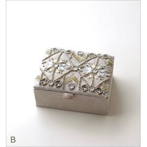 小物入れ アクセサリーケース ミラー ふた付き 刺繍 ビーズ かわいい おしゃれ 指輪 リングホルダー ミニケース ジュエリーケース ビーズ刺繍BOX 2カラー gigiliving 06
