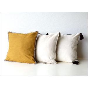 クッションカバー 45×45cm おしゃれ 刺繍 綿100% フリンジ タッセル ファスナー付き 刺繍クッションカバー3タイプ|gigiliving|03