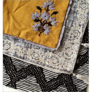 クッションカバー 45×45cm おしゃれ 刺繍 綿100% フリンジ タッセル ファスナー付き 刺繍クッションカバー3タイプ|gigiliving|04