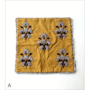 クッションカバー 45×45cm おしゃれ 刺繍 綿100% フリンジ タッセル ファスナー付き 刺繍クッションカバー3タイプ|gigiliving|05
