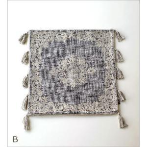 クッションカバー 45×45cm おしゃれ 刺繍 綿100% フリンジ タッセル ファスナー付き 刺繍クッションカバー3タイプ|gigiliving|06