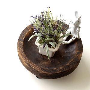 トレー 小物入れ 皿 プレート 木製 天然木 丸 卓上トレイ アクセサリートレイ 収納 花台 ラウンドウッドトレーL|gigiliving