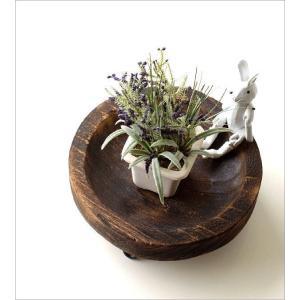 トレー 小物入れ 皿 プレート 木製 天然木 丸 卓上トレイ アクセサリートレイ 収納 花台 ラウンドウッドトレーL|gigiliving|02
