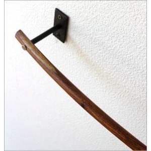 タオルハンガー タオル掛け アイアン 木製 洗面所 壁掛け ウッドバーのタオルハンガー A|gigiliving|04