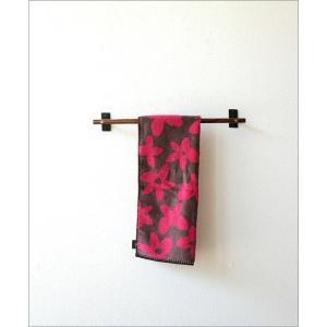 タオルハンガー タオル掛け アイアン 木製 洗面所 壁掛け ウッドバーのタオルハンガー A|gigiliving|06