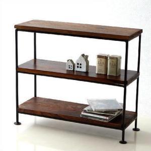 スパイスラック 飾り棚 飾棚 シェルフ 木製 アイアン シーシャムウッド三段棚M|gigiliving