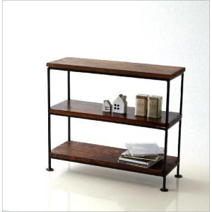 スパイスラック 飾り棚 シェルフ 木製 アイアン シーシャムウッド三段棚M|gigiliving|02