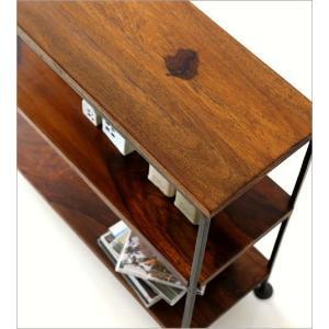 スパイスラック 飾り棚 シェルフ 木製 アイアン シーシャムウッド三段棚M|gigiliving|03
