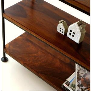 スパイスラック 飾り棚 シェルフ 木製 アイアン シーシャムウッド三段棚M|gigiliving|04