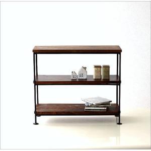 スパイスラック 飾り棚 シェルフ 木製 アイアン シーシャムウッド三段棚M|gigiliving|05
