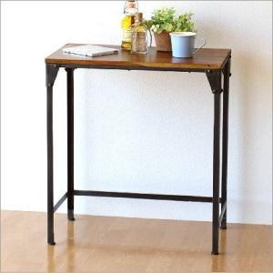 サイドテーブル 木製 アイアン シンプル モダン アンティーク 無垢 天然木 鉄脚 おしゃれ コンソールテーブル 花台 シーシャムとアイアンのネストテーブル Lの写真