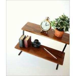 棚 シェルフ 飾り棚 飾棚 スパイスラック 木製 2段ディスプレイラック|gigiliving|02