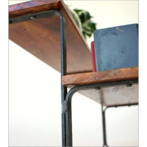 棚 シェルフ 飾り棚 飾棚 スパイスラック 木製 2段ディスプレイラック|gigiliving|04