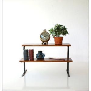 棚 シェルフ 飾り棚 飾棚 スパイスラック 木製 2段ディスプレイラック|gigiliving|05
