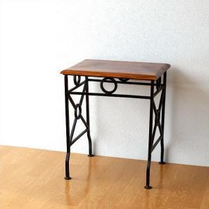 ネストテーブル サイドテーブル アイアン 木製 シーシャムウッド 天然木 無垢 おしゃれ コンパクト アジアン アンティーク ネストテーブル コンソールS|gigiliving