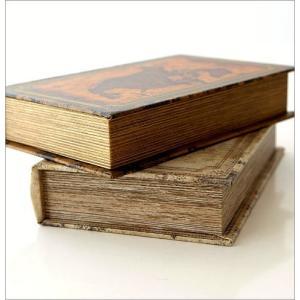 本型小物入れ ブック型収納ボックス 宝箱 洋書 シークレットボックス アンティーク調 レトロ アンティーク風 雑貨 ブックボックス マップ2タイプ gigiliving 04