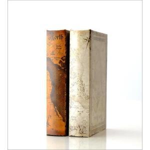 本型小物入れ ブック型収納ボックス 宝箱 洋書 シークレットボックス アンティーク調 レトロ アンティーク風 雑貨 ブックボックス マップ2タイプ gigiliving 05