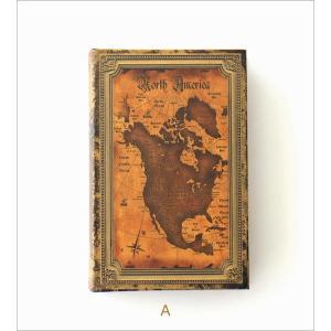 本型小物入れ ブック型収納ボックス 宝箱 洋書 シークレットボックス アンティーク調 レトロ アンティーク風 雑貨 ブックボックス マップ2タイプ gigiliving 06