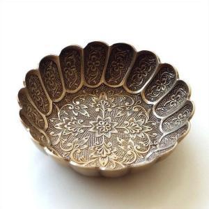 プレート トレー トレイ 真鍮 小物 皿 ブラス 金属製 ゴールド レトロ おしゃれ 波型 アンティーク アクセサリートレイ ブラス波型ラウンドプレートG|gigiliving