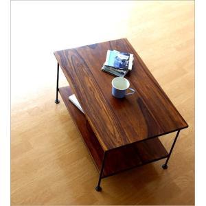 収納棚 シェルフ 木製 アイアン テーブル テレビ台 コンパクト AVラック オーディオラック シーシャムウッド二段棚|gigiliving|02