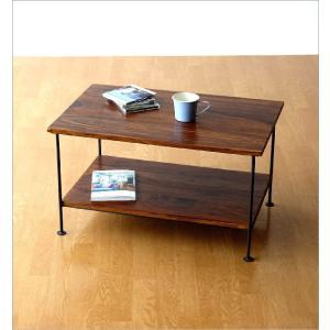 収納棚 シェルフ 木製 アイアン テーブル テレビ台 コンパクト AVラック オーディオラック シーシャムウッド二段棚|gigiliving|05