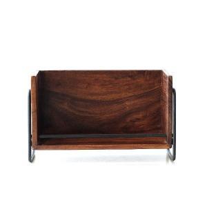 小物入れ スタッキング 卓上収納 卓上ラック スタッキング 机上 整理棚 木製 アイアン おしゃれ 天然木 無垢 幅30cm シーシャムスタッキングラックL|gigiliving