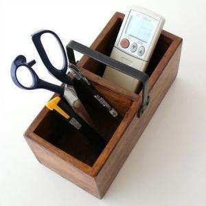 ペン立て リモコンラック 木製 小物入れ シーシャムウッドミニボックス|gigiliving