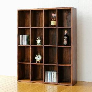 棚 シェルフ 飾り棚 飾棚 収納ラック 木製 CDラック DVDラック シーシャムウッドフリー棚16|gigiliving