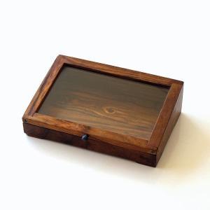 ショーケース 木製 ディスプレイケース コレクションケース 卓上 ガラスケース アクセサリーケース 天然木 無垢 シーシャムウッドのショーケース|gigiliving