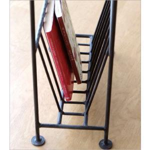 マガジンラック 木製テーブル付き おしゃれ スリム アイアン 雑誌 収納 アジアン家具 ソファサイドテーブル マガジンテーブル オーバル gigiliving 05