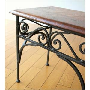 サイドテーブル 木製 おしゃれ ベッドサイドテーブル ソファサイドテーブル 花台 シンプル ナチュラル アジアン アイアンとシーシャムのネストテーブル M gigiliving 04