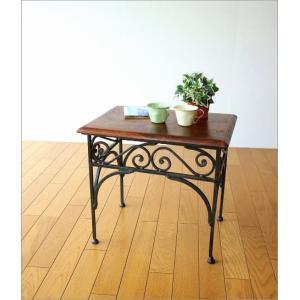 サイドテーブル 木製 おしゃれ ベッドサイドテーブル ソファサイドテーブル 花台 シンプル ナチュラル アジアン アイアンとシーシャムのネストテーブル M gigiliving 06