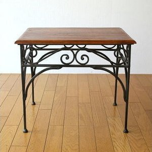 サイドテーブル 木製 おしゃれ ベッドサイドテーブル ソファサイドテーブル 花台 シンプル ナチュラル アジアン アイアンとシーシャムのネストテーブル L|gigiliving