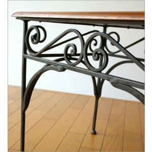サイドテーブル 木製 おしゃれ ベッドサイドテーブル ソファサイドテーブル 花台 シンプル ナチュラル アジアン アイアンとシーシャムのネストテーブル L|gigiliving|04