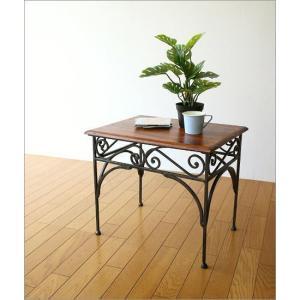 サイドテーブル 木製 おしゃれ ベッドサイドテーブル ソファサイドテーブル 花台 シンプル ナチュラル アジアン アイアンとシーシャムのネストテーブル L|gigiliving|06