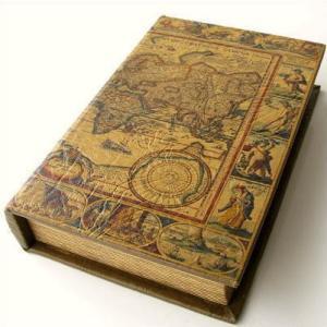 本型小物入れ ボックス アンティーク 収納 ブックボックス L|gigiliving