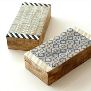 小物入れ ふた付き 宝箱 木製 アンティーク 収納ボックス レトロ ナチュラル おしゃれ 卓上 アクセサリーケース ボーンとウッドのボックス 2タイプ|gigiliving