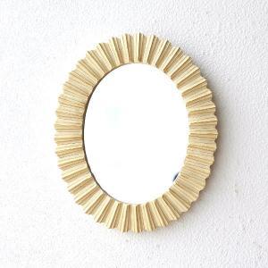 鏡 壁掛けミラー おしゃれ 丸 楕円形 オーバル ウォールミラー モダン デザイン アイボリーオーバルミラー|gigiliving