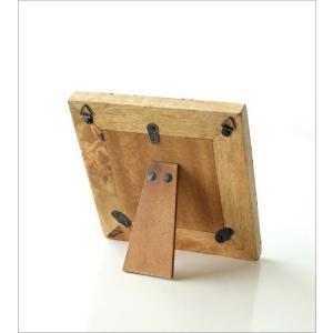 フォトフレーム おしゃれ 木製 正方形 天然木 写真立て 卓上 壁掛け ナチュラル モダン マンゴー&ブラスフォトフレームS gigiliving 04