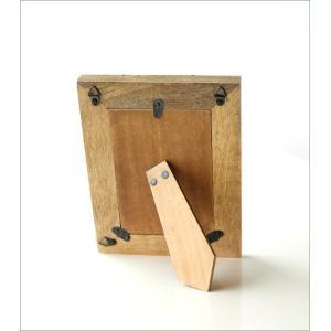 フォトフレーム おしゃれ 木製 L判 天然木 写真立て 卓上 壁掛け ナチュラル モダン マンゴー&ブラスフォトフレームL gigiliving 04
