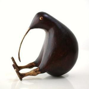 置物 木製 インテリアオブジェ アジアン雑貨 キウイ木彫り 大|gigiliving