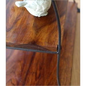 ディスプレイラック 飾り棚 飾棚 シェルフ 木製 アイアン ウッドシェルフ 収納 オープンラック キッチン アジアン家具 シーシャムウッドディスプレイラック|gigiliving|04