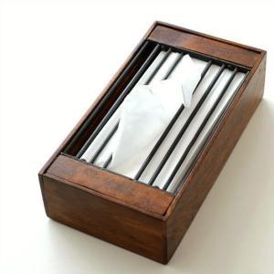 ティッシュケース 木製 アイアン おしゃれ シンプル 木 インテリア アジアン アンティーク シンプル モダン シーシャムとアイアンのティッシュボックス A|gigiliving