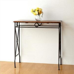 ネストテーブル コンソールテーブル アイアン 木製 サイドテーブル 天然木 無垢 おしゃれ モダン シンプル アジアン ネストテーブル コンソールL|gigiliving